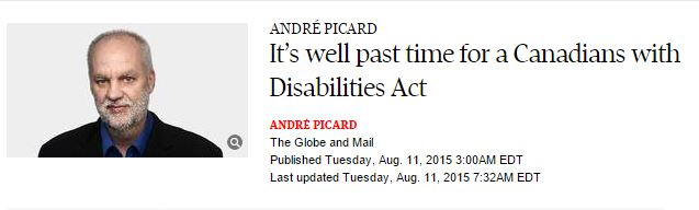 It's well past time for a Canadian with Disabilities Act