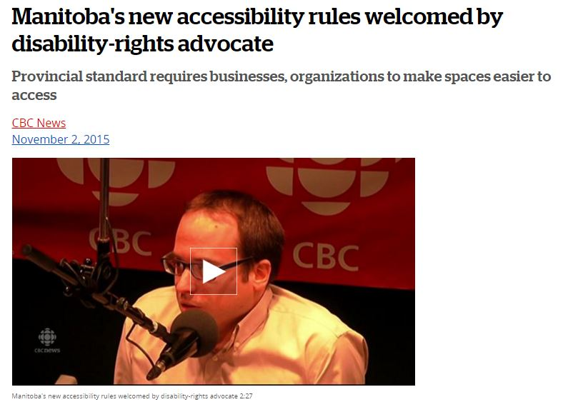 Manitoba's new accessibility rules welcomed by disability-rights advocate