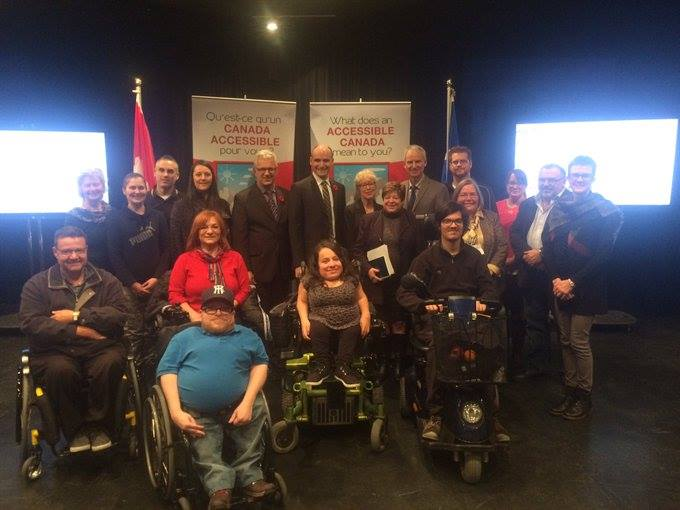 Laurence Parent of Québec accessible attended the consultation held in Quebec City on November 10, 2016. The Minister of Family, Children and Social Development, Jean-Yves Duclos, was present. Photo Credit: Government of Canada